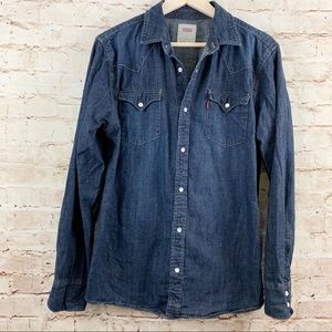 Levi's pearl snap western shirt
